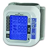 Easy@Home Digital Wrist Blood Pressure Monitor with Heart Beat/Pulse Meter function - FDA-approved For OTC Use BP Monitor with Carry Case and Battery, Backlit Large Display, EBP-017