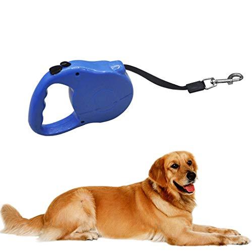 LOSVIP Einfacher Stil Neu Haustier Hund Katze Automatisch Einziehbares Zugseil Gehschutz Führleine,Sicherheit führen Zugseil 5 Meter(Blau,15.5x9.5x3cm)
