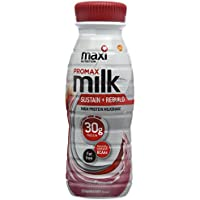 MaxiNutrition Protein Milk Ready-to-Drink Recover and Rebuild Shake, Strawberry, 330 ml, Pack of 8