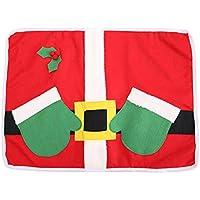BESTOYARD Manteles de Navidad con Bolsillos de Cubiertos de Plata Decoraciones de Cuento de Navidad 49 x 36 x 0.4 cm