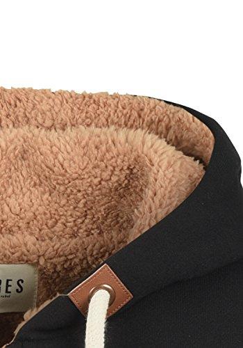 DESIRES Vicky Pile Straight Zip Damen Lange Sweatjacke Cardigan Sweatshirtjacke Mit Teddy-Futter Und Kapuze, Größe:XS, Farbe:Black PIL (P9000) - 5