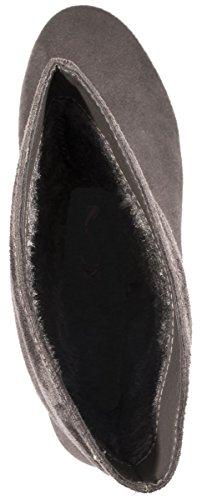 Elara Donna Stivaletti | classico comodo cordoncino Stivali | piatto pelle sintetica | chunkyrayan Grau München