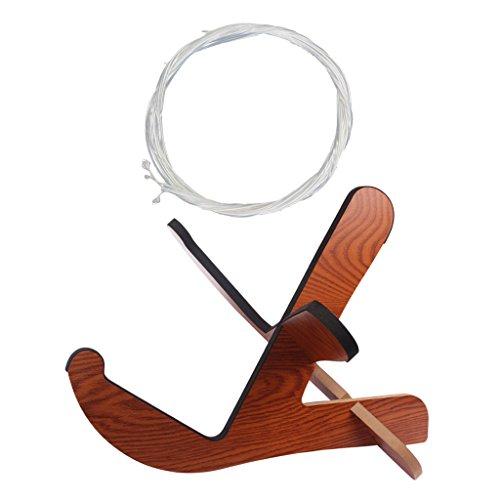 Sharplace Holz Halter Gitarrenständer + Saiten-Set für Klassische Gitarre