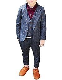 Zhuhaitf Mode 3 Piece Kids Children School Suit for Boys Boys Formal Wedding Blazer Suit Boys Suit Party Tuxedos 4120