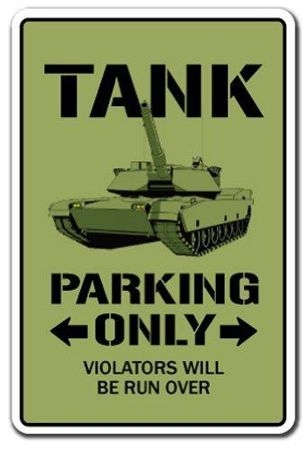 SignMission Tank Parken Schild APC Militär Panzer Armee zurückziehen Armoured| Indoor/Outdoor | 30,5cm Hoch