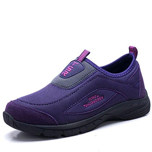 Homme Femme Chaussure de Sneakers Mesh Chausson de Maison Loisir Course à Pied Slip-on Confortable Antidérapage 36-44 Violet