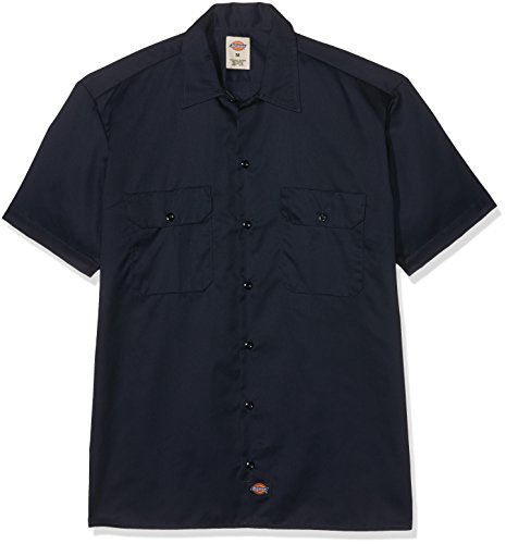 Dickies - 1574 à manches courtes Chemise de travail, 2X-Large Tall, Dark Navy