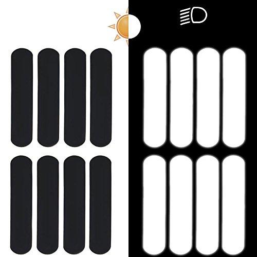 8 Streifen Reflektierende Aufkleber Für Motorradhelme 9 X 2