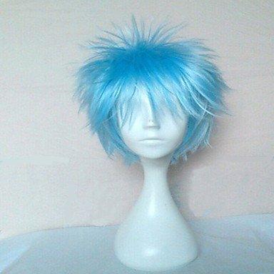 HJL-Cheveux synth¨¦tiques de qualit¨¦ sup¨¦rieure bleue Cosplay perruque Perruques court boucl¨¦s perruques Animation Party perruques homme , blue