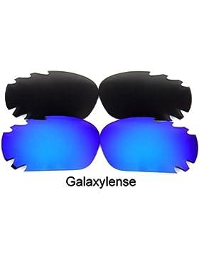 Galaxylense lentes de repuesto para Oakley Jawbone negro y azul Color Polarizados 2 Pares,GRATIS S & H