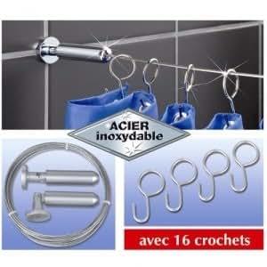 Câble de rideau de douche en inox avec tendeur