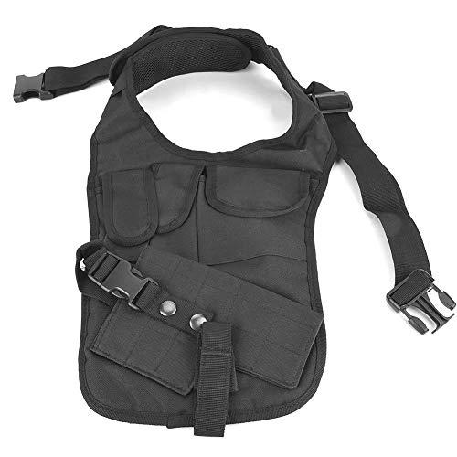 Alomejor Brust Vordertasche Tasche Nylon Versteckte Unterarm Umhängetasche Packtasche Mehrzweck Aufbewahrungstasche für Achselhöhle -