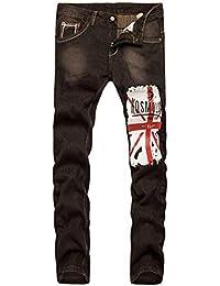 c964015224189 Pantalon Denim Homme Pantalon Denim Slim Jeans Slim Fit Pantalon Spécial  Style Stretch Vintage Jeggings Pantalon