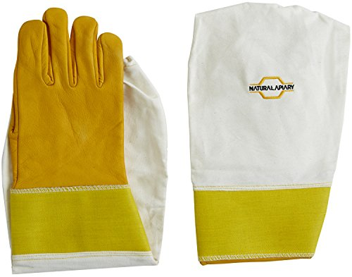 Natural Apiary® BEEKEEPING GLOVES - COWHIDE - STING PROOF CUFFS - MEDIUM - Soft & Durable Leather - Long Thick Sleeves 7