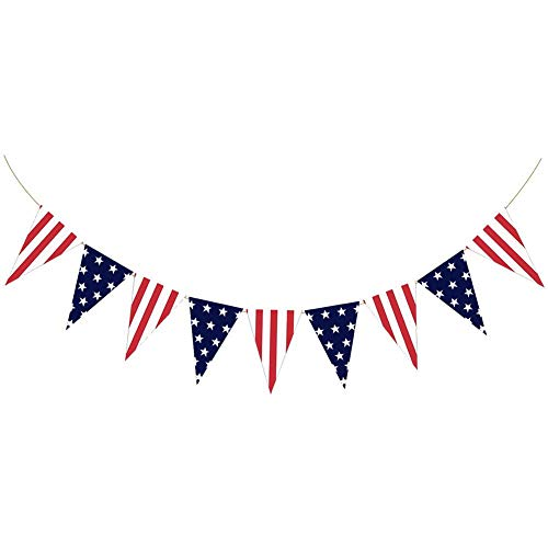TUANMEIFADONGJI Party Banner Für USA Nationalfeiertag Amerikanische Flagge Independence Day Bunting Party Dekoration Banner Für Outdoor Interior Deckendekoration