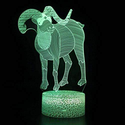 Stimmung Atmosphäre Lampe 3D Led Kinder Nachtlicht Dekoration Acryl Abs Umweltschutz Material Auge Tisch Freunde Geschenk Schafe -