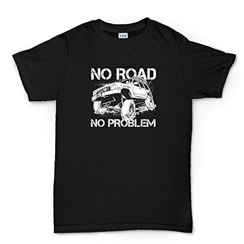 Off Road Jeep Army Truck 4x4 T-shirt (Cherokee Herren T-shirt Schwarz)