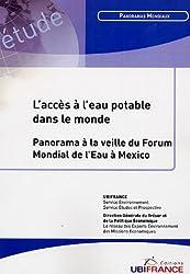 L'accès à l'eau potable dans le monde : Panorama à la veille du Forum Mondial de l'Eau à Mexico