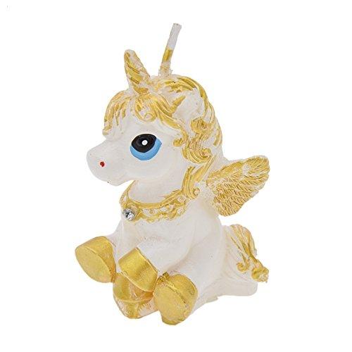 OPEN BUY Vela 3D unicornio para decoracion cupcakes magdalenas tartas bizcochos cumpleaños decoracion babyshower