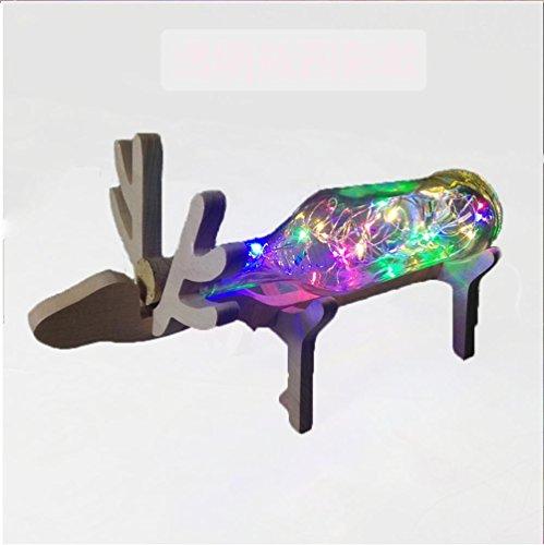gjy-led-lightingusb-deer-wooden-night-light-glass-bottle-wooden-frame-creative-light-multicolormulti