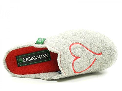 Dr. Brinkmann Damen Hausschuh Grau 2JcFNVP