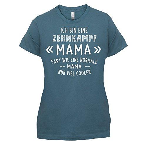 Ich bin eine Zehnkampf Mama - Damen T-Shirt - 14 Farben Indigoblau