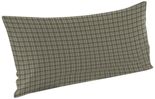 Patch Magic Green Dark With Cream Plaid Fabric Pillow Sham, 27-Inch by 21-Inch by Patch Magic (Cream Patch-magic)