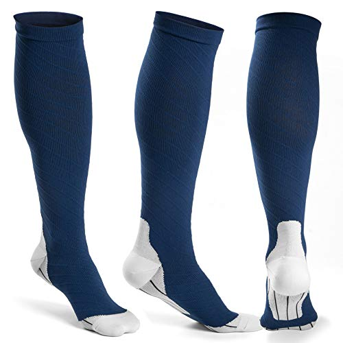 Oxyvan Herren oxyvan 3 paar kompressionssocken & - athletic fit running, reisen & recovery l / xl blau -