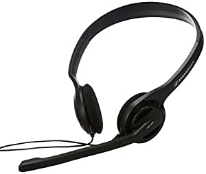 Sennheiser PC 36 Stereo Headset (Noise Cancelling Mikrofon, 109 dB, USB 2.0) für Internet Telefonie/VoIP schwarz