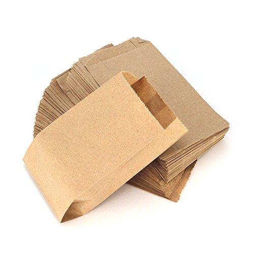 RUBY - 100 Kraft bolsa de papel marrón