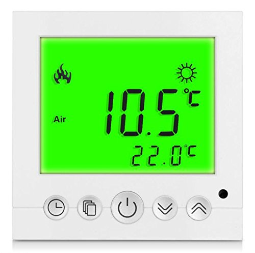 SM-PC®, Digital Thermostat Raumthermostat Fußbodenheizung Wandheizung LED grün #a32