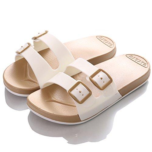 Chaussons des amoureux d'été, tongs, men's cool pantoufles, respirant l'antidérapage chaussures de plage, les chaussons de bain Double white female