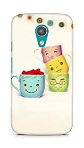 Amez designer printed 3d premium high quality back case cover for Motorola Moto G2 (Cute Cup)