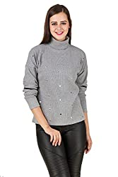 Texco winter turtle neck , full sleeve hearts embelished sweat shirt