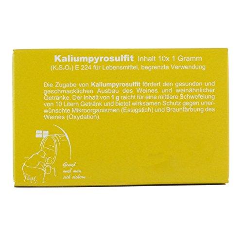 Vina Kaliumpyrosulfit 10x1 Gramm, Kaliumdisulfit, Schwefelpulver
