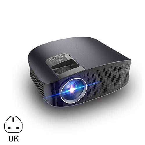 Wellouis Video Projector Home Movie Theater Projectors Support 1080P HDMI VGA AV USB Lcd Ceiling Support