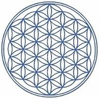Blume des Lebens - Aufkleber heilige Geometrie, blau 9,5 cm preisvergleich bei billige-tabletten.eu
