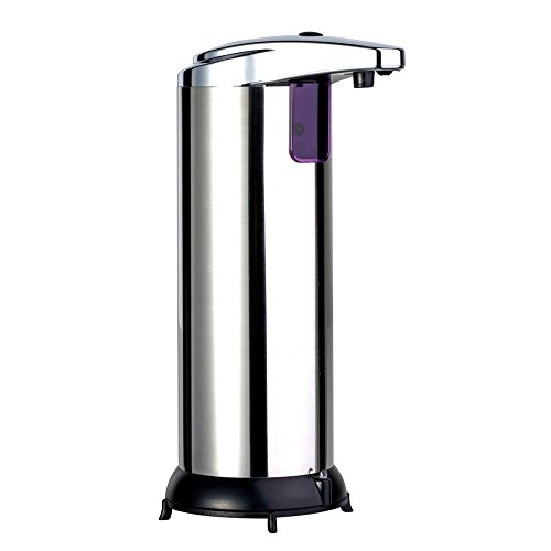 Raffinierter Seifenspender * 280 ml Automatischer Sensor Seifenspender Boden Wandmontage Edelstahl Touch-Sanitizer Spender für Küche Badezimmer -