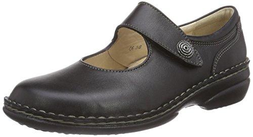Schuhe Mary Janes Schwarz (Finn Comfort Laval, Damen Mary Jane Schuhe, Schwarz (Schwarz), 40)