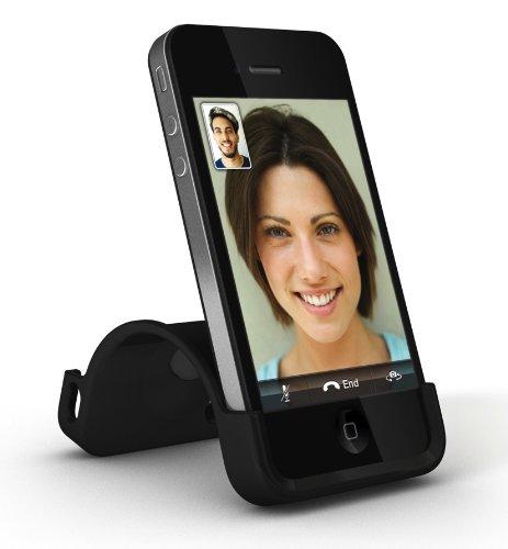 XtremeMac IPP-SS5-13 SnapStand Licorice Schutzhülle für Apple iPhone 4/4S mit Stand-Funktion schwarz schwarz