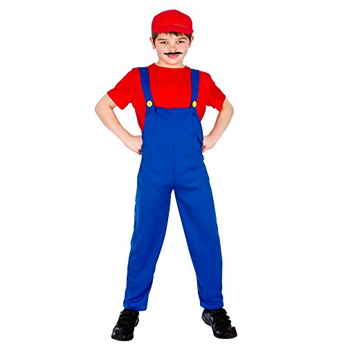 Funny Plumber- Red (8-10) (Kostüme Themed Mario)