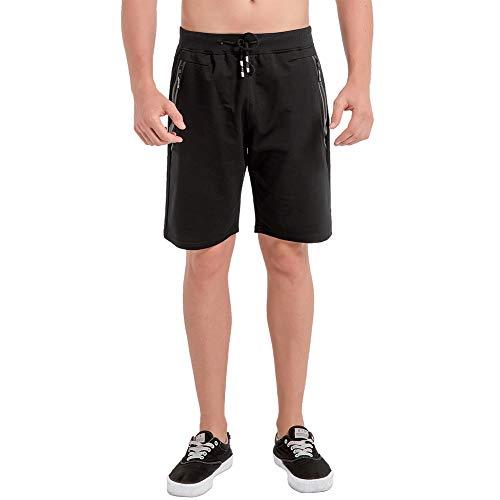 Umelar Herren Shorts Sport Shorts Herren Kurze Hose Herren Shorts Fitness Kurze Hose Jogging Hose Cotton Herren Short Herren Freizeit-Shorts Reißverschlusstaschen