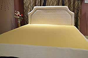 Trance Home Linen Waterproof and Dustproof Cotton Bed Protector (Queen Size/78 X 60-inch, Ivory)