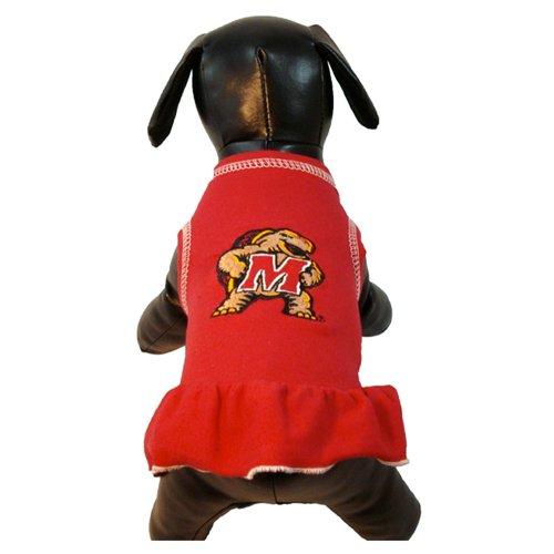 NCAA Maryland Sumpfschildkröten Cheerleader Hund Kleid (Team Farbe, X-Large) -