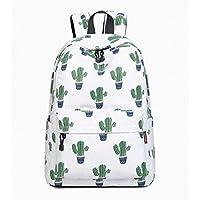 Joymoze Waterproof Cute School Backpack for Boys and Girls Lightweight Chic Prints Bookbag Cactus