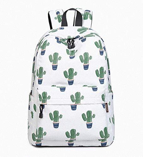 Joymoze Wasserdicht Süß Schule Rucksack für Jungen und Mädchen Leicht Schick Bedruckt Bücher Tasche Kaktus 844