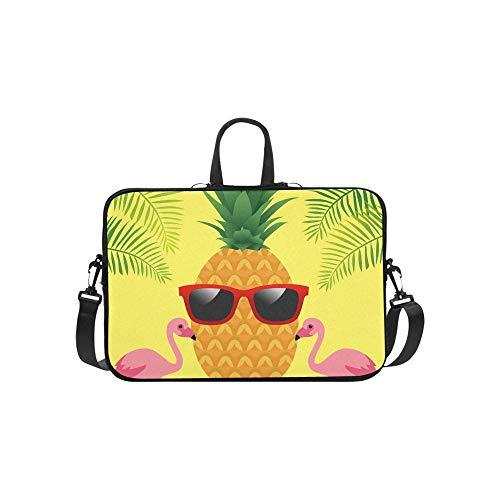 Aloha Typografie Ananas Sonnenbrille auf Palm Aktentasche Laptoptasche Messenger Schulter Arbeitstasche Crossbody Handtasche für Geschäftsreisen