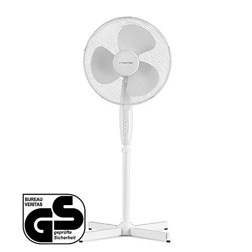 Produktbild TROTEC TVE 16 Standventilator / Standlüfter / sehr leise / höhenverstellbar / Neigungswinkel verstellbar / 3 verschiedene Geschwindigkeitsstufen / Automatische 90°-Oszillation