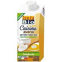 Isola Bio Crema para Cocinar de Avena - Paquete de 24 x 200 ml - Total: 4800 ml