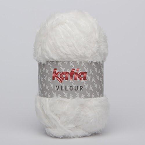 Katia velours 50 Écru 100 g Boule Boule Boule de 150 m, une utilisation et une écharpe Motif aiguilles 7–8 mm B0112T12EU d4ee44